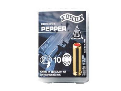 Walther 9mm Pepper Gas P.A.K  cartridge (x10)