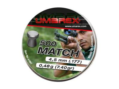Umarex Match 4.5mm /.177 Pellets 0.48g (x500)